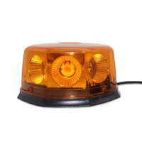 Led amber Road safety traffic emergency warning beacon light in DC 12V to 24V and rotating flashing pattern with magnetic