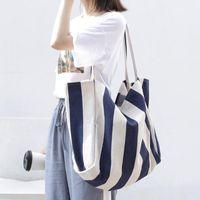 "WOMENS BRAND BAG LOUIS""VITTON DESIGNER V7K6 Retro Canvas Large Contracted Stripe Pure And Handbag Bags Female Youth Art Shoulder B Iipt"
