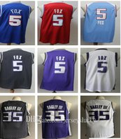 Stitched Men De'Aaron 5 Fox Jerseys 2021 Novo azul roxo branco preto preto 35 Marvin Bagley III Basquetebol College Shirts Tamanho S-2xLeathable