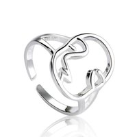Cluster Rings 925 Sterling Silver Face Finger Ring For Women Wedding Jewelry Bijoux Femme JZ049