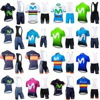 Movistar equipe ciclismo mangas curtas jersey (BIB) Bike Shorts Set MTB Sobycle Ropa Ciclismo Mens Pro Verão Bicicleta Maillot Wear B613-29