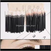 Party Favor 50Pcs 9 X 03Cm Disposable Eyeliner Brush Lip Micro Oneoff Eye Liner Liquid Wand Applicator Makeup Cosmetic Brushes Tool Ow 8G5M0