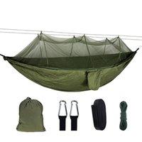 Мебель для лагеря Портативный Открытый Кемпинг Палатка Гамака с Москитом NET 210T Нейлон 2 Человек Навес Парашют Висит Спящая Качели