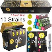 GLO Extracts Распылители для картриджа для тренажеры для тренажеры для тренажерных на картриджах 0,8 мл 1,0 мл. Аторизатор керамические тележки DAB Pen Wax Vaporizer с QR-кодом Пустые одноразовые E сигареты