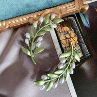 Hair Clips & Barrettes Dong Danshui Pearl Brooch Baking Varnish Mori Leaf Coat SUIT PIN