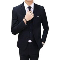 Homens Suits (Jaquetas + Camisas + Calças) Nice Voguefashion Masculino Slim Fit Business Casual Casual Conjunto Do Noivo Tuxedo Homens Blazers