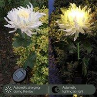 Decorative Flowers & Wreaths Home Decor Artificial Flower Solar Led Outdoor Garden Lights Simulation Lawn Light Plug-in Landscape Drop Ship