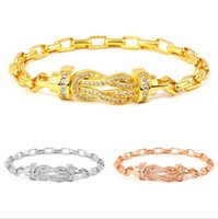 Charm Bracelets Statement Bangle Bracelet Trendy Rose Gold Color Copper Crystal Pulseras Women Bijoux Gift