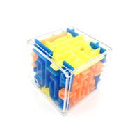 3,8 см мини лабиринт классический магический кубик игрушки пластиковые 3D лабиринт из бисера вращающийся куб