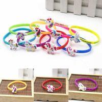 Fashion Unicorn Silicone Bracelet Charm Sports Wristband Home Party Jewelry Lovely Gifts Decoration HWA6350
