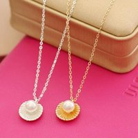 Pendant Necklaces 2021 Punk Vintage Imitation Pearl Shell Short Chain Necklace Retro Gothic Clavicle Jewelry For Women