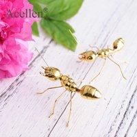 Candmade Centre Gold Ant Butterfly Beetle кузнечик миниатюрные фигурки декор современного искусства ремесло дома украшения дома аксессуары