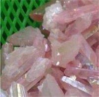 5 قطع الحرف الطبيعية روز التيتانيوم أورا كوارتز الكريستال الأحجار الكريمة النقاط شفاء شقرا نقطة لصنع المجوهرات 616 S2