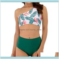 Equipment Water Sports & Outdoorswomen One Shoulder Bikini Set High Waisted Beach Bathing Suit One-Piece Suits Drop Delivery 2021 Xycwn