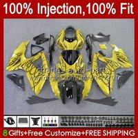 Injection Mold OEM For SUZUKI GSXR-750 GSXR600 GSXR 600 750 CC K8 08 09 10 9HC.202 golden flames GSX-R750 GSXR-600 GSXR750 GSX-R600 600CC 750CC 2008 2009 2010 Fairings Kit