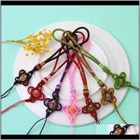Arti e artigianato 5 pz squisito nodi nappe tessitura in tessitura corda corda accessori gioielli fai da te Borsa da segnalibro decorazioni decorazioni artigianali pendenti