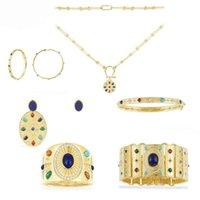 2021 juillet s925 argent sterling style romain bague boucles d'oreilles bracelet collier de luxe marque monaco bijoux dames cadeaux