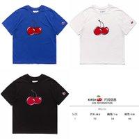 Fashion Brand Корейский ins Ниш Дизайнер Kirsh Короткая Рубашка Свободные хлопчатобумажные вышивки Печать Cher 8DUQ