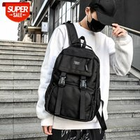 backpack men and women Korean version of tooling style large-capacity student school bag cool fashion simple #yz0a
