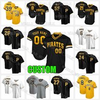 21 Roberto Clemente Jersey Pittsburgh 맞춤형 해적 22 Kevin Newman 39 Dave Parker 8 Willie Stargell 55 Josh Bell Chris Archer 야구