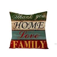 Retro carta de travesseiro caixa quadrado sofá de linho carro decorativo coxim tampas de amor tema decor decoração 10 projetos 45 * 45cm hwf6071