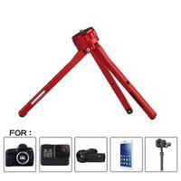 Tabla de vídeo de aluminio rojo / negro trípode altura ajustable de altura ajustable 1/4 pulgadas de interfaz para cámara SLR DSLR SlR Trazo de teléfono inteligente