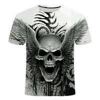 2019New Design T Shirt Uomo / Donne Metallo pesante Grim Reaper Skull 3D T-shirt stampata Casual HARAJUKU Style Tshirt Streetwear Tops