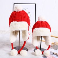 autumn and winter hat parent-child imitation hair knitted Plush thickened outdoor cycling skiing warm wool Black Friday Deals