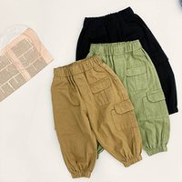 Kids Trousers Fashion Cotton Baby Boy Clothes Children Wear Spring Autumn Girls Long Pants Casual 1-7Y B5250