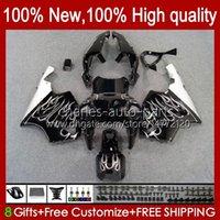 Bodys Kit para Kawasaki Platey Flames Ninja ZX-7R ZX750 ZX 7R 96 97 98 99 00 01 02 03 Bodywork 28HC.31 ZX-750 ZX 7 R ZX 750 ZX7R 1996 1997 1998 1999 2000 2001 2002 2003 Failings