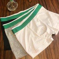 2020 망 디자이너 복서 브랜드 팬티 섹시한 클래식 망 권투 선수 캐주얼 반바지 속옷 통기성 면화 속옷 상자와 3pcs