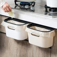 주방 벽 장착 휴지통 수 캔버스 캐비닛 도어 매달려 유형 욕실 플라스틱 쓰레기통 폐기물 쓰레기통