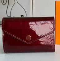 Femmes Carte Luxe 41938 Porte-monnaie multicolore Portefeuille courte! Vente en gros de pièces de monnaie en cuir de poche Classic Zipper 3 pli