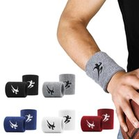 Wrist Support 1Pcs Sweatband Tennis Sport Wristband Volleyball Gym Brace Sweat Band Towel Bracelet Protector 8.5cm*7.5cm