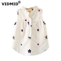 Vidmid Toddler Bebek Kız Kolsuz Bluzlar Yaz Giyim Çocuk Kız Üstleri Gömlek Tankı Gömlek Çocuk Giysileri 7071 01 210802