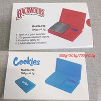 Bolinhos Backwoods Bolso Digital Escalas Vermelho Azul 500g * 0.01G 700g * 0.1G Jóias de Ouro Tobacco Stash Peso Vaios de Vaios de Medição Do Dispositivo Flip Estilo