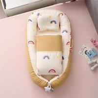 Babykrippen 50x85cm Baumwollkrippe mit Quilt tragbar Nest Mesh Kleinkind Bett Bassinet für Cunas Para el
