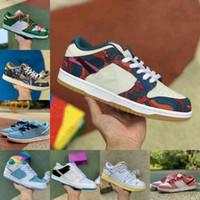 En Kaliteli Dunks Koşu Ayakkabıları Erkekler Kadınlar Dunk Parra Soyut Sanat Zebra Lazer Mavi Lot 35 SB Sean Cliver Çam Yeşil Papa Ayı Acg Celadon Strangelove Eğitmenler Sneakers