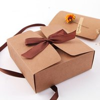 30PCS Lot Craft Kraft Paper Box Packaging Wedding Party Small Gift Candy Favor Package Boxes Event Supplies Wrap