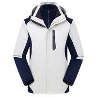 2020 Winter Factory Direct Outdoor Tre-in-one Giacca Personalizzato Logo Plus Velvet Ispessimento Donne maschile Alpinismo