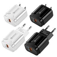 Carregamento Rápido 3.0 Adaptador de Carregador de Parede 18W QC Charge Fast USB Power Plug Plug Universal