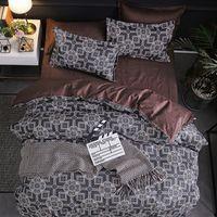 Set di biancheria da letto di lusso Super King Cover Duvet Set 3pcs Marble Single Swallow Queen Size Black Comforter Bed Lines Stripe 460 v2