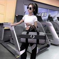 Mujer Fitness Bolso Deportes Gimnasio Bolsa de gimnasio Grande Capacitación Pink Black Travel Duffel Yoga Mat Bolsas de asas WY1270