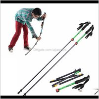 135Cm Ultralight Eva Handle 5Section Adjustable Canes Walking Sticks Pole Alpenstock For Outdoor Mountaineering Hiking Qmrts Poles 8Vcds
