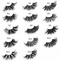Vente en gros le plus à la main M01-M14 25mm -27mm Cils de maquillage des cils de maquillage molles et naturels avec une belle boîte