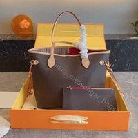최고 품질 2021 쇼핑 LuxUrys 디자이너 핸드백 어깨 가방 핸들 오픈 패션 토트 홈 패키지 2pcs / 세트 여성 지갑 편지 가죽 실용 클러치 지갑