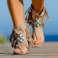 Sandals Summer Women 2021 Retro Clip Toe Ladies Gladiator Sexy Vintage Boots Casual Tassel Rome Beach Woman Shoes Female