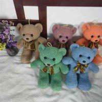 Teddy plush toy ribbon bow tie bear cute doll
