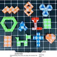 brinquedos de descompressão tik tok dedo brinquedo em linha reta através da corda 24 segmentos Pequena régua mágica Palm versátil sensação de esforço Venda H41lldw