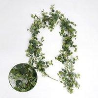 185 سنتيمتر النباتات الخضراء الاصطناعية شنقا اللبلاب يترك العنب وهمية الزهور كرمة المنزل حديقة جدار حزب زفاف الديكور زخرفية